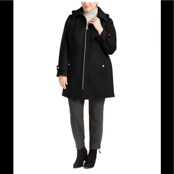 Michael Kors Hooded Stand-Collar wool Coat,NWT